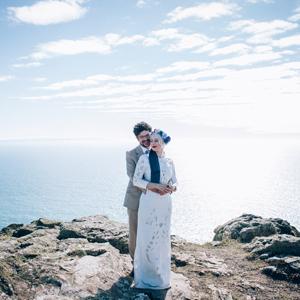 Kickass Festival Wedding on a Cliff
